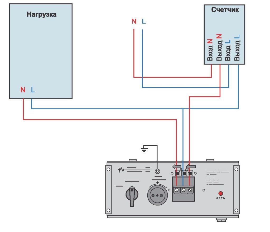 Схема подключения стабилизатора к сети 220В